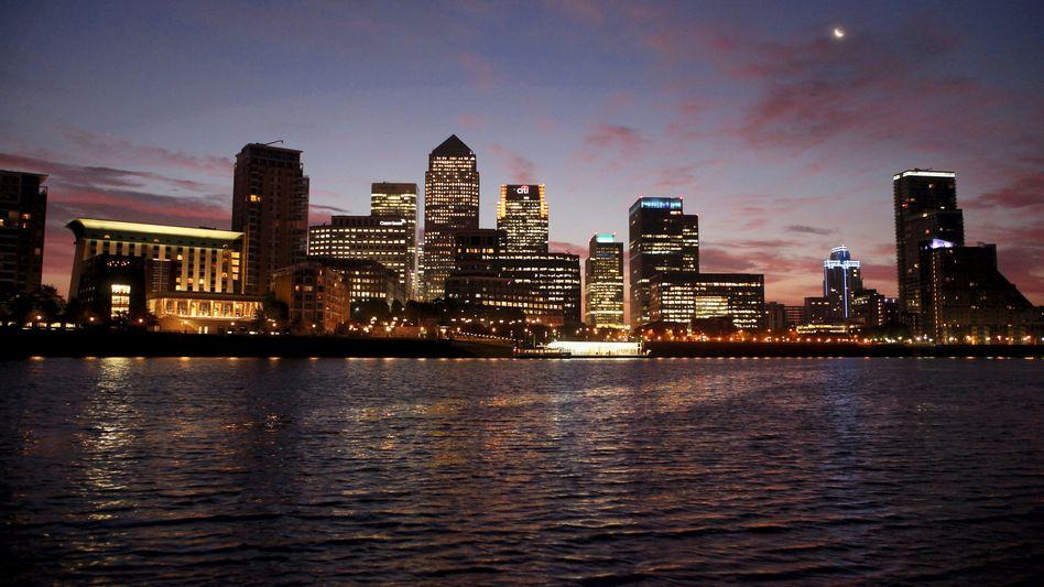 Bankenviertel Canary Wharf: Hier lässt sich mit Staatsanleihen prächtig reich werden