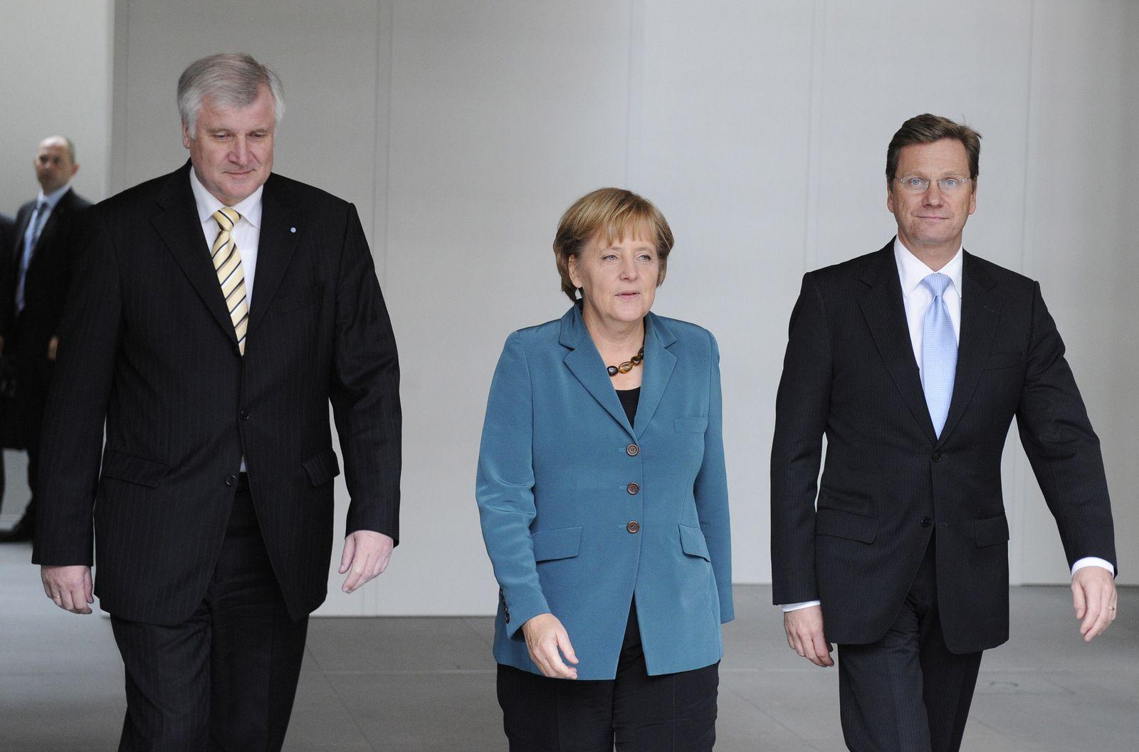 Seehofer, Merkel, Westerwelle