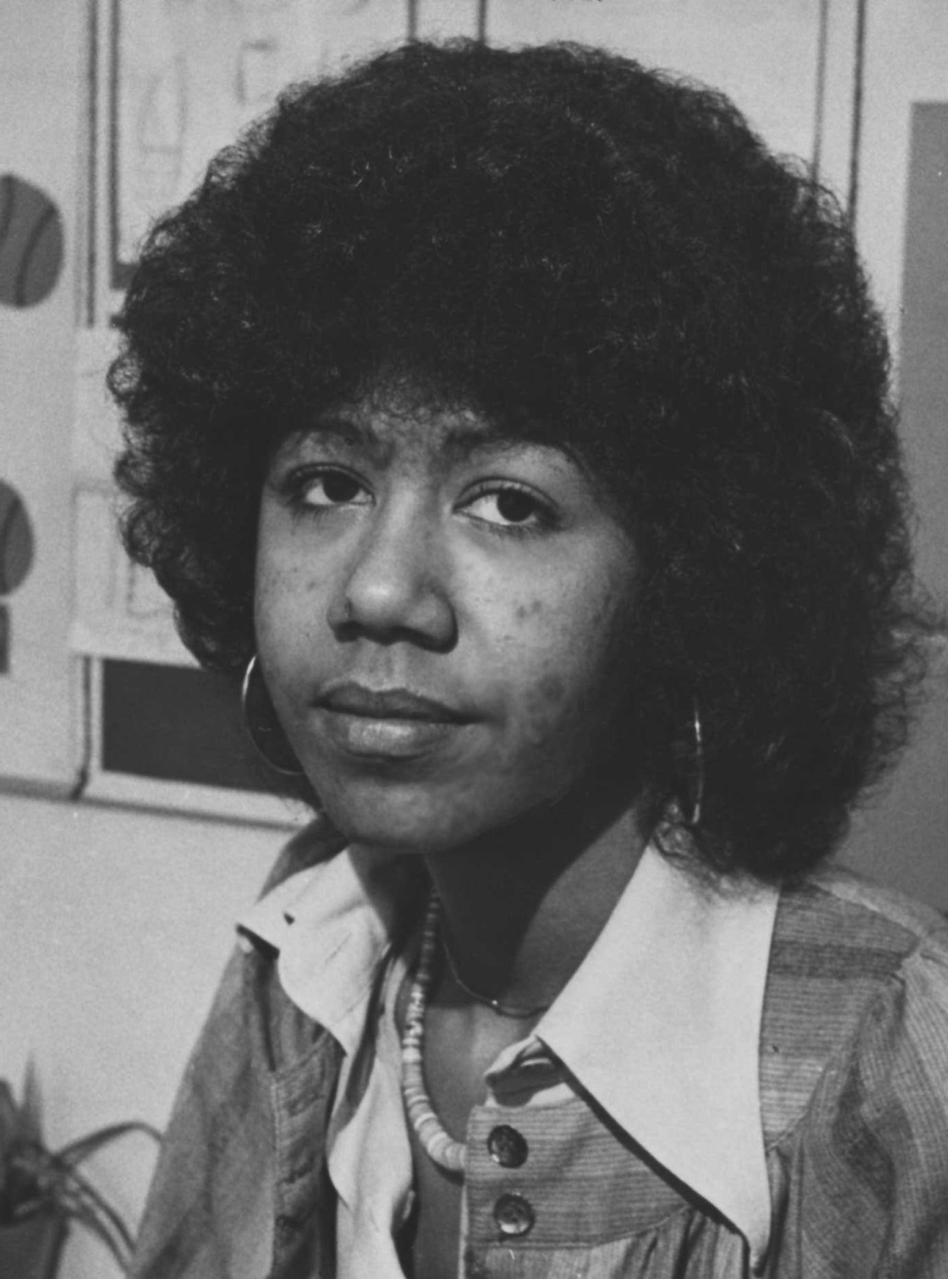Oakland, CA December 23, 1975 - Fromer Black Panther Party member Ericka Huggins. (By Lonnie Wilson / Oakland Tribune) Published December 28, 1975