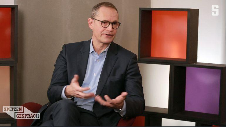 Michael Müller (SPD) im SPIEGEL-Studio