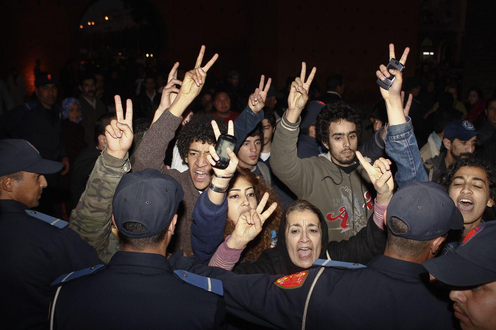 Marokko Protest