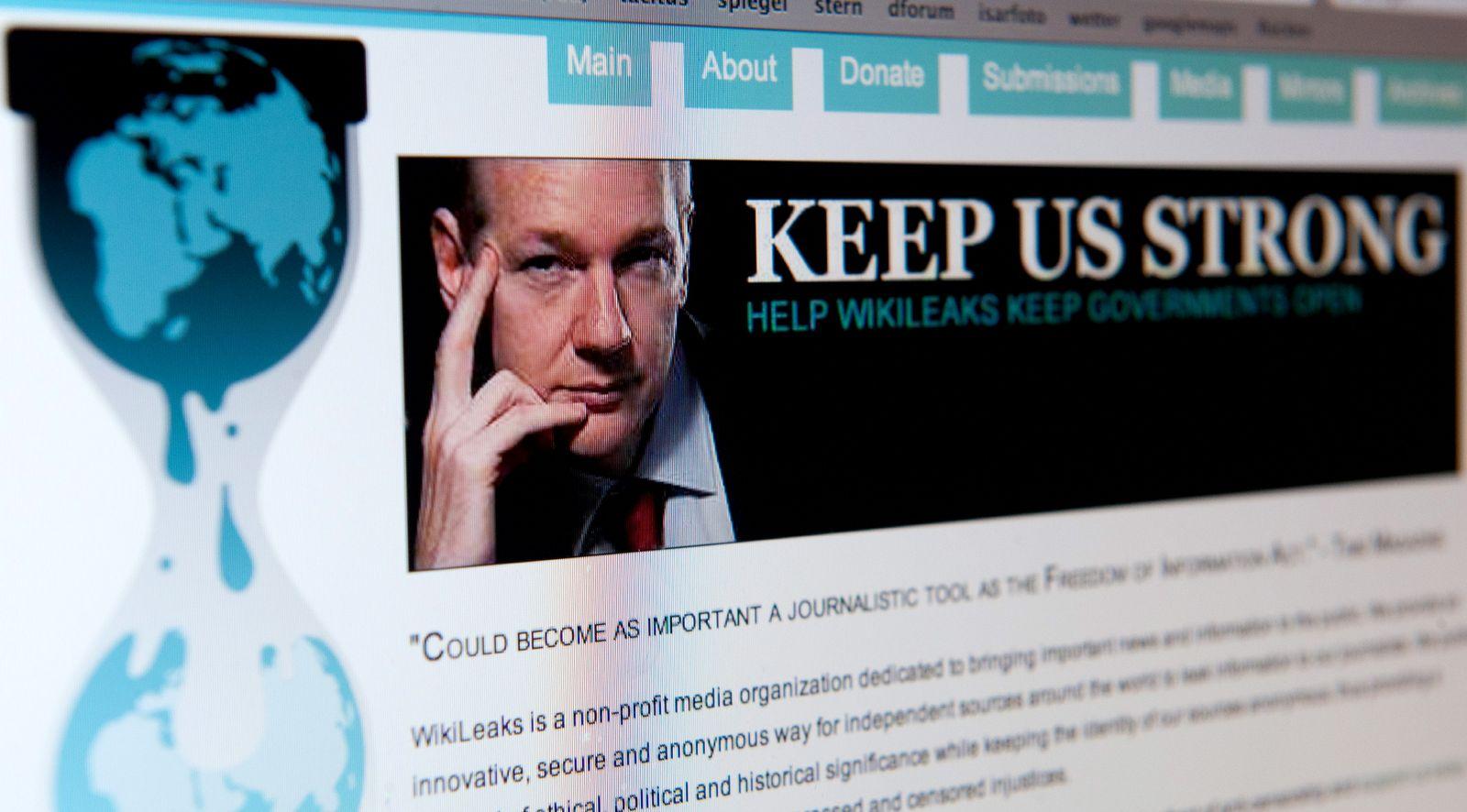 NICHT VERWENDEN Wikileaks / Assange / Website