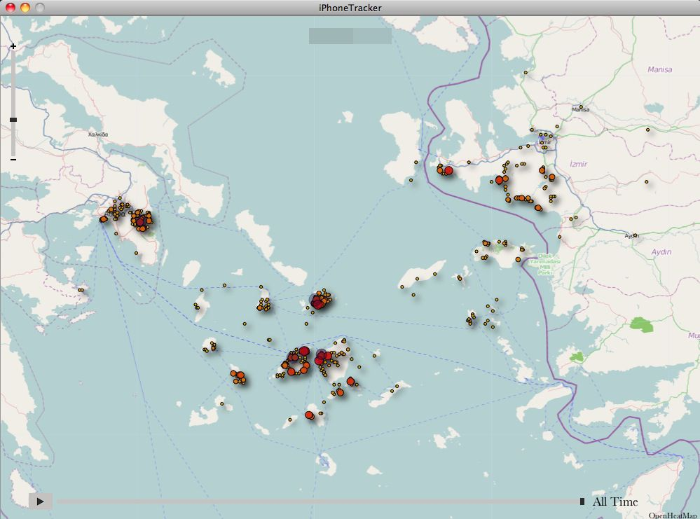SCREENSHOT iPhone Tracker