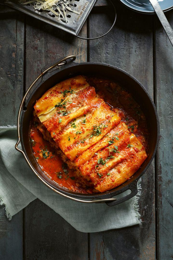Cannelloni aus dem Feuertopf