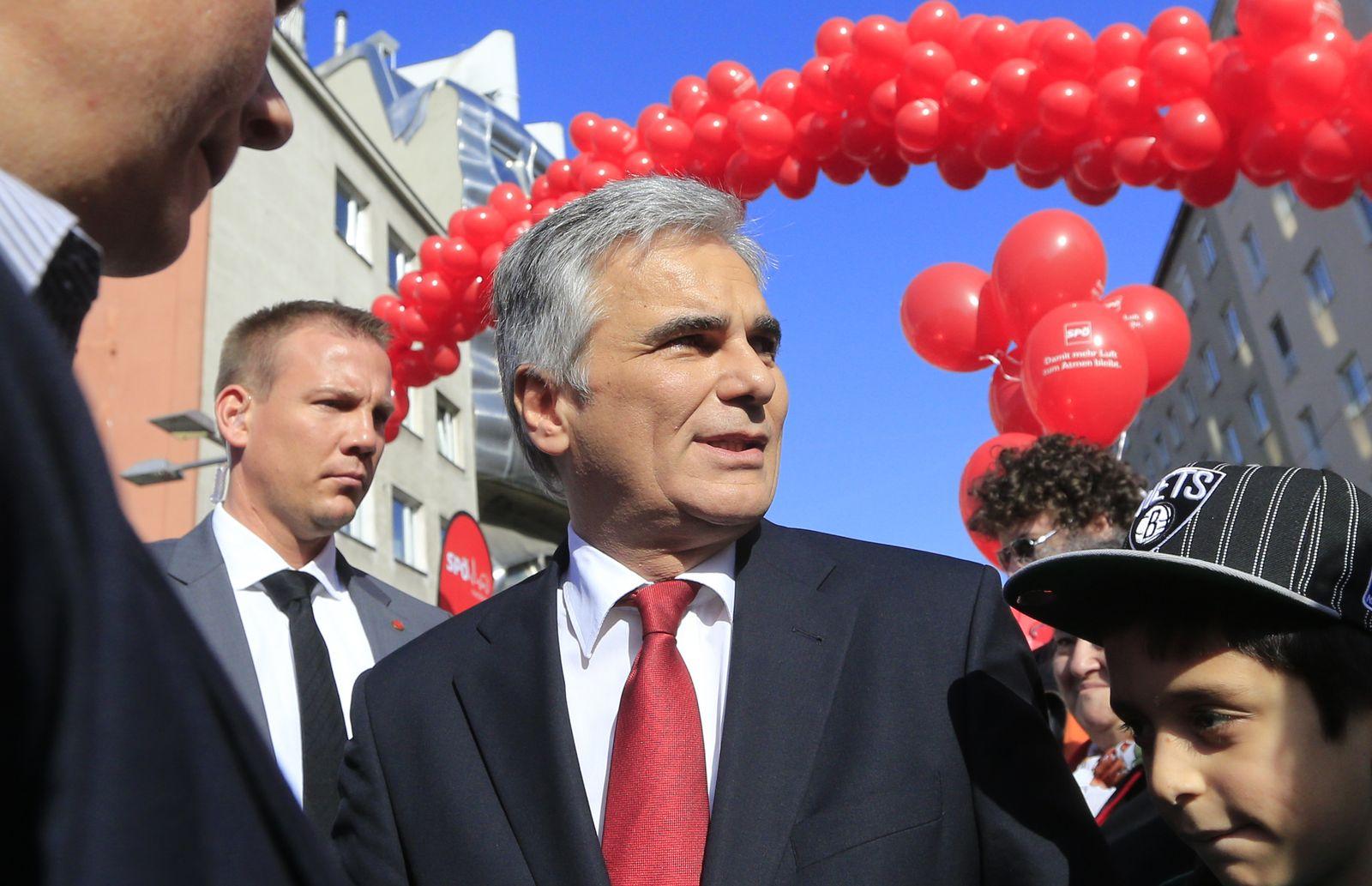 Wahl Österreich / SPÖ / Werner Faymann