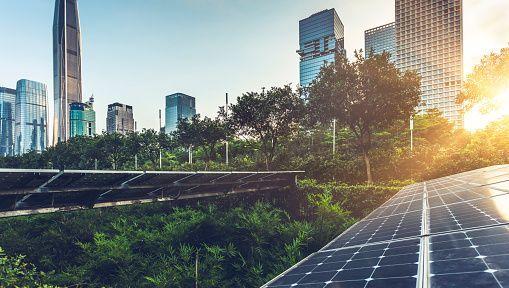Solarzellen in Shenzhen, China (Symbolbild)