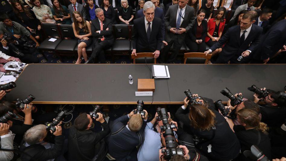 Vertane Stunde der Wahrheit: Ex-Sonderermittler Mueller vor dem US-Kongress