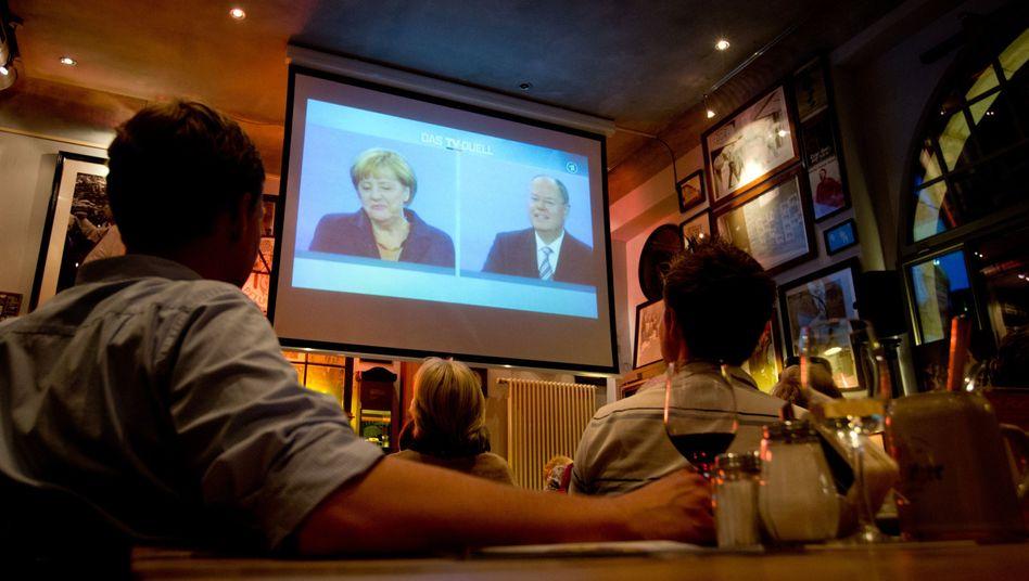 Public Viewing des TV-Duells in Berlin: Kein klarer Sieger