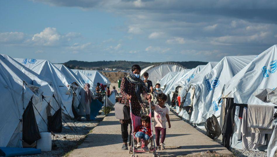 Zeltlager für Geflüchtete in Kara Tepe auf der Insel Lesbos