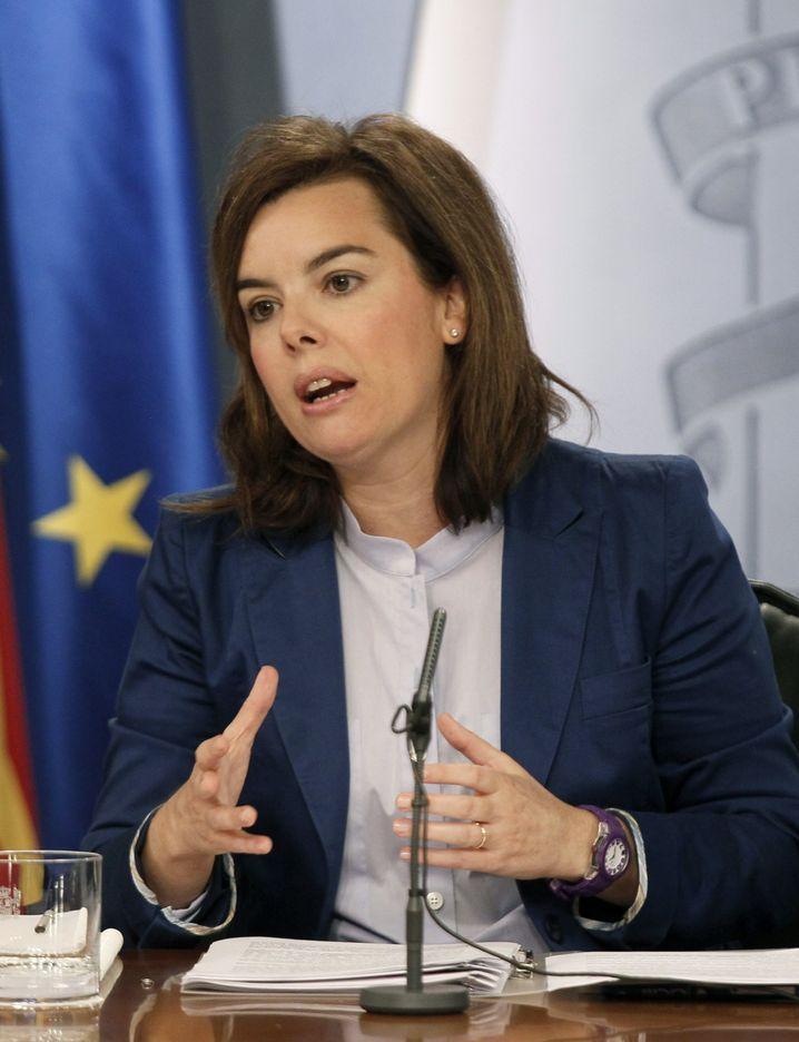 """Rajoys Stellvertreterin Sáenz de Santamaría: """"Referendum wird nicht stattfinden"""""""