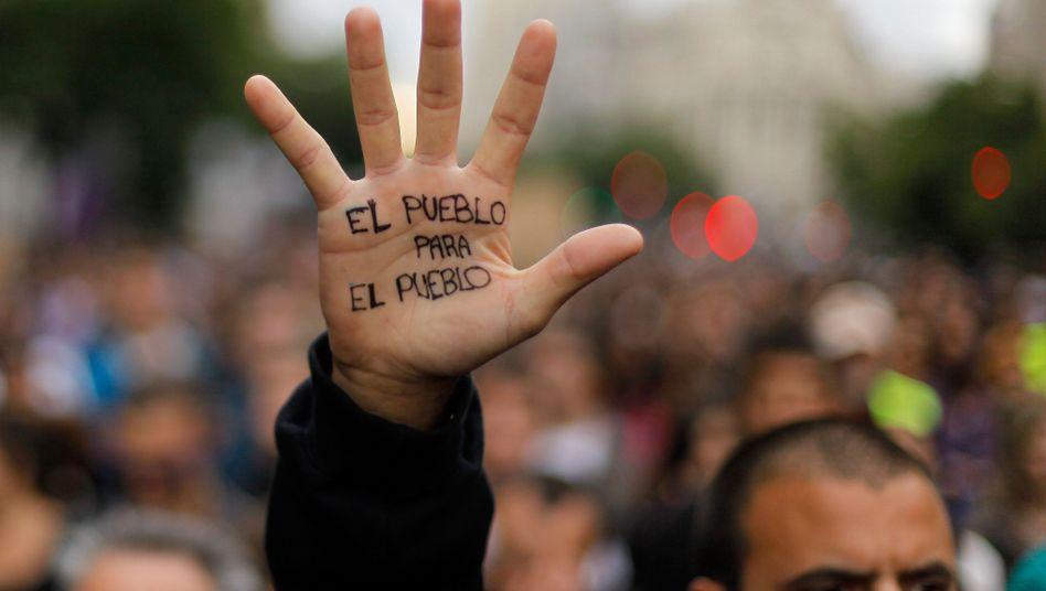 Protest gegen Spaniens Sparpläne in Madrid (Archiv): Rücklagen schnell aufgebraucht?