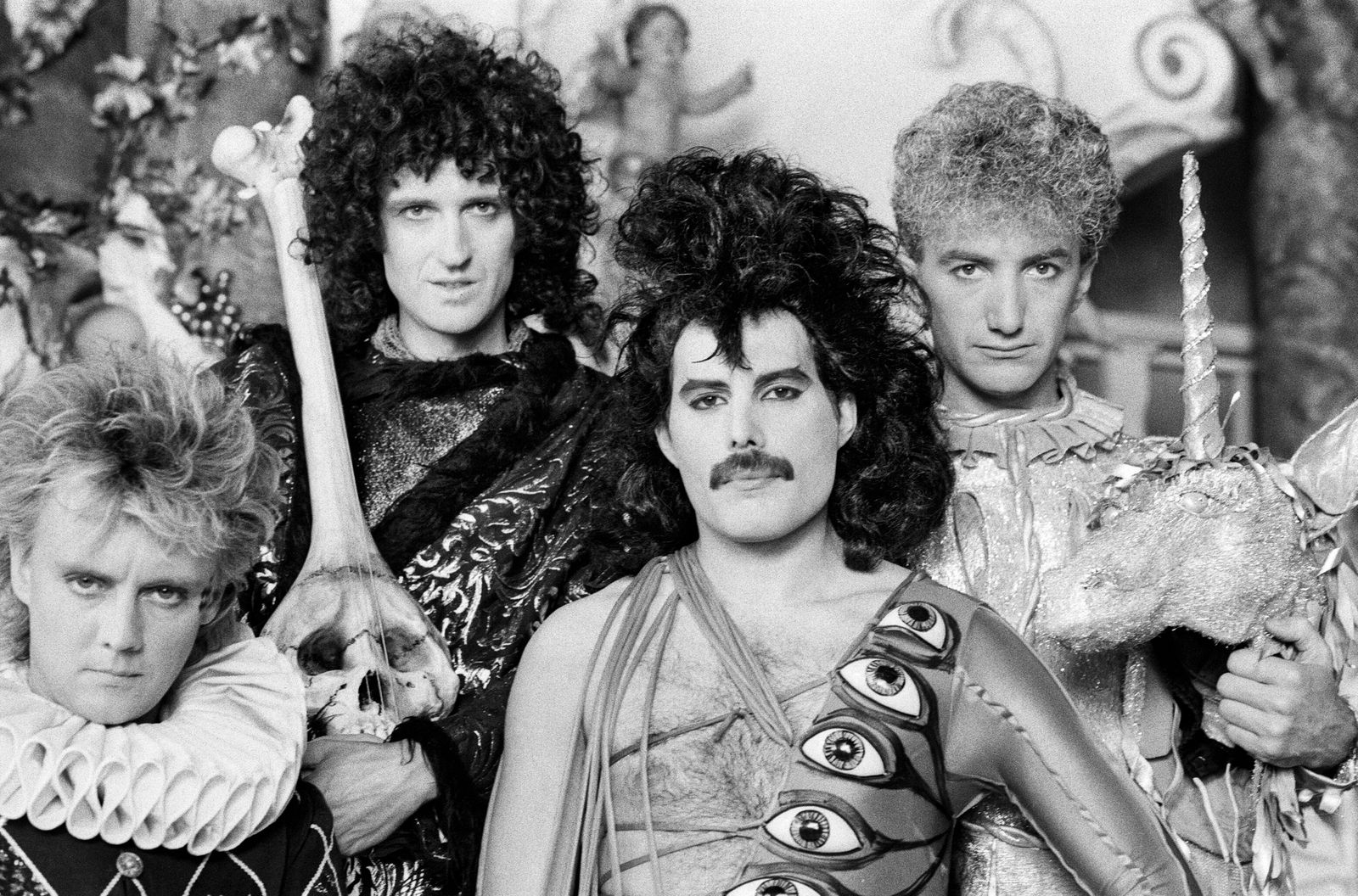 Queen making music video 1984