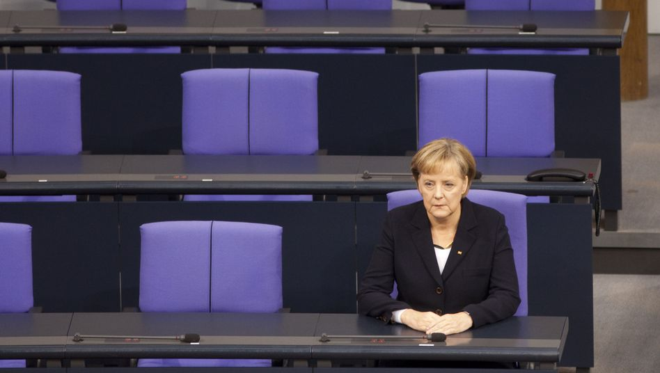 Kanzlerin Merkel auf der Regierungsbank: Unmut über Athen-Hilfen unter den 311 Unionsabgeordneten
