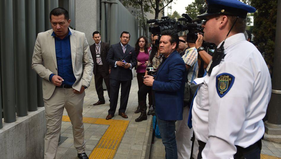 Einer der Anwälte von Guzmán vor dem Bundesgericht in Mexico-Stadt