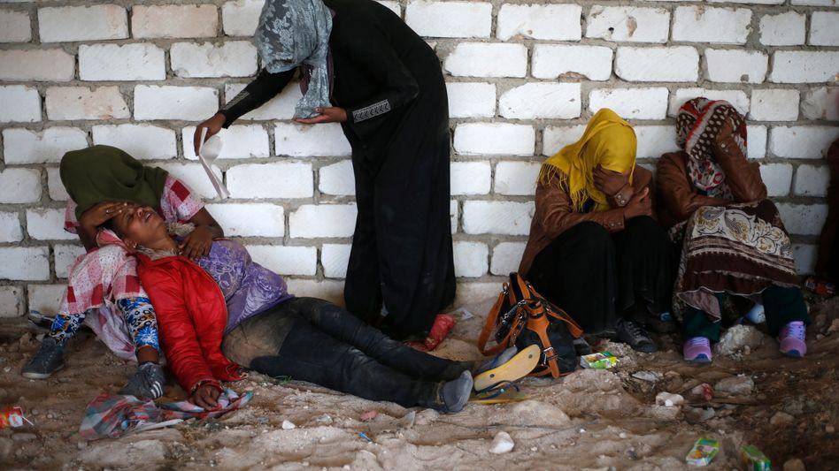 Flüchtlinge in Libyen (Archivbild 2014)