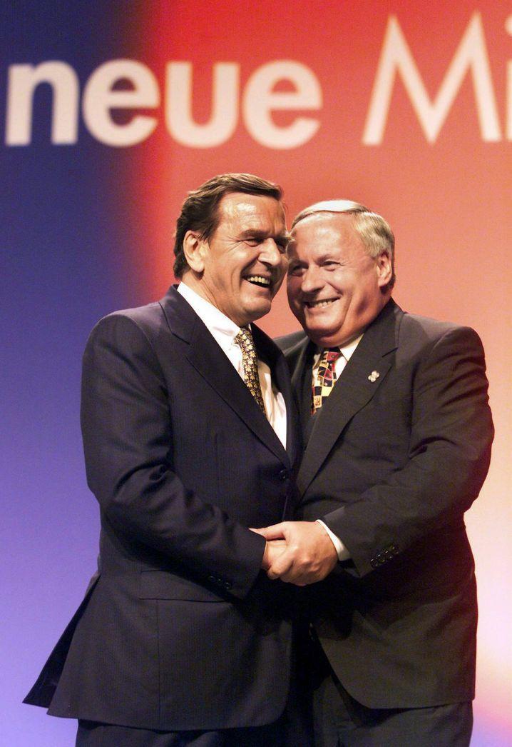 Andere Zeiten, 1998: Lafontaine als SPD-Chef mit dem damaligen Kanzlerkandidaten Gerhard Schröder