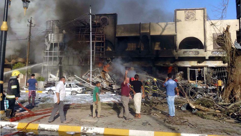 Explosion in Kirkuk (Archivbild): Immer mehr deutsche Selbstmordattentäter in Syrien und Nordirak