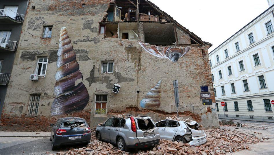 Verletzte und schwere Schäden nach Erdbeben bei Zagreb