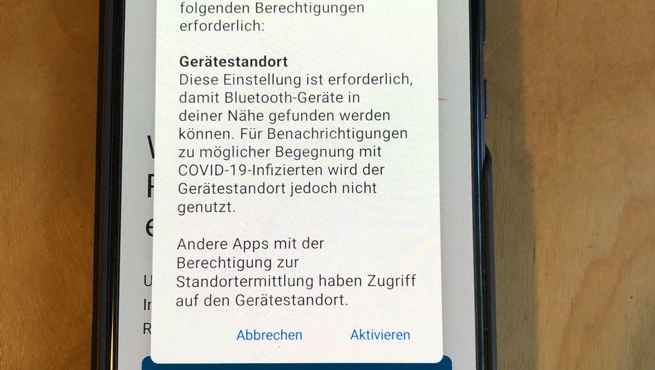 """""""Diese Einstellung ist erforderlich"""": Installation der Corona-Warn-App auf einem Android-Gerät mit deaktiviertem Standortzugriff"""