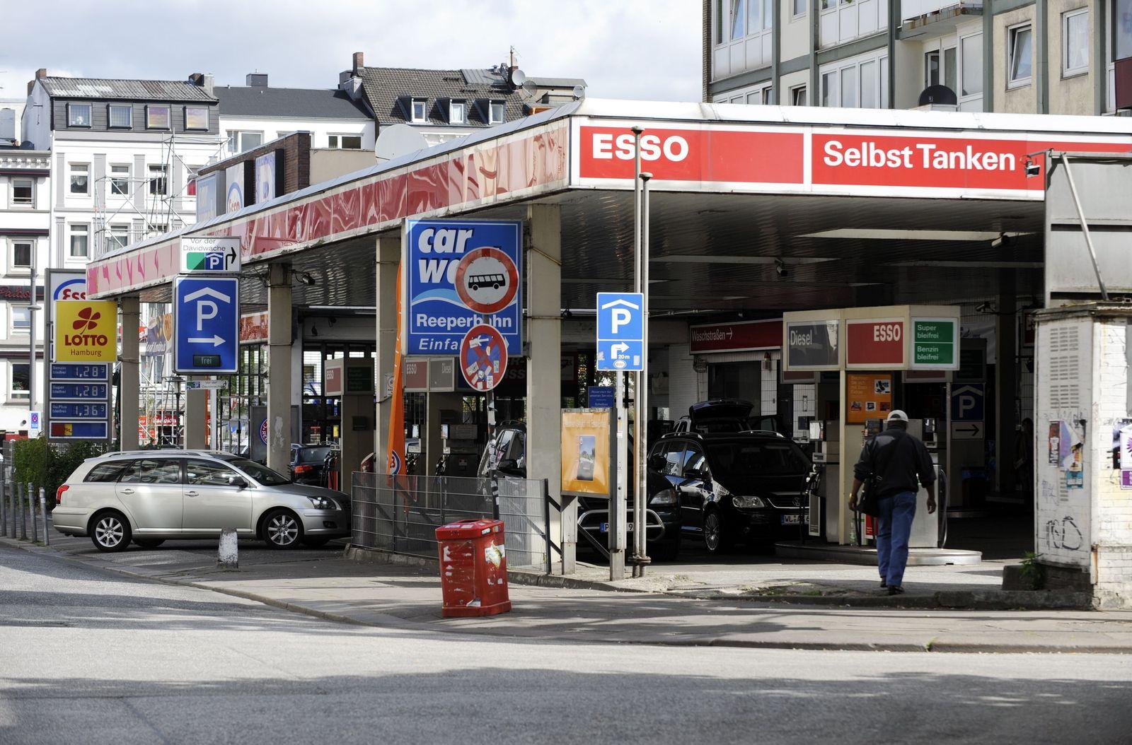 Tankstelle an der Reeperbahn