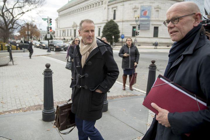VW-CEO Herbert Diess und VW-Cheflobbyist Thomas Steg in Washington (Dienstag)