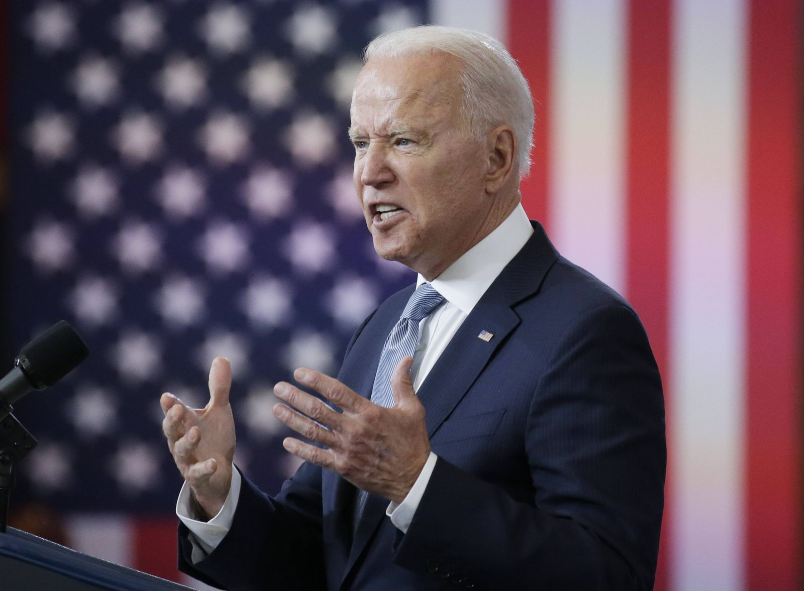 President Joe Biden delivers remarks on actions to protect the sacred, constitutional right to vote in Philadelphia on T