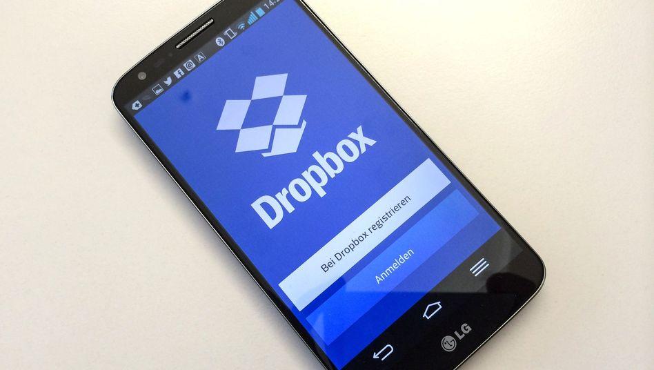 Dropbox auf einem Smartphone