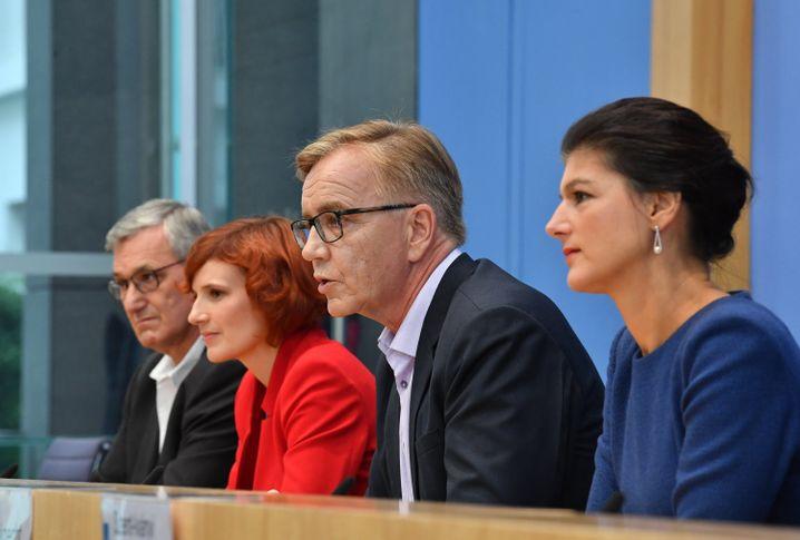 Im Bundestagswahlkampf 2017 komplettierten die Parteichefs Bernd Riexinger und Katja Kipping ein »Spitzenteam«, in dem die Fraktionsvorsitzenden Dietmar Bartsch und Sahra Wagenknecht die offiziellen Spitzenkandidaten waren