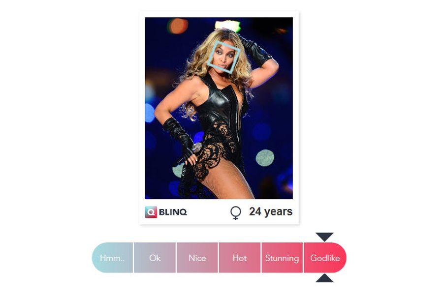 EINMALIGE VERWENDUNG NUR ALS ZITAT Screenshot/ Blinq/ Beyonce
