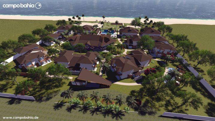 Überblick: Das Campo Bahia entstand als Luxusdörfchen am Rande einer armen Gemeinde (Computergrafik)