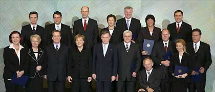 Kanzlerin Merkel und ihr Kabinett