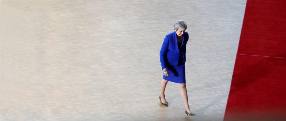 Die britische Regierungschefin Theresa May beim Brexit-Gipfel