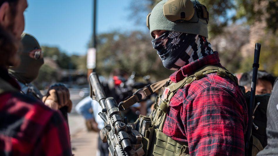 Waffen für alle: Ein Demonstrant vor dem texanischen Kapitol im Januar dieses Jahres