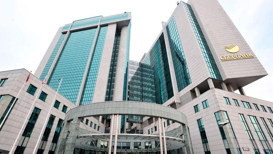 """Sberbank-Zentrale in Moskau: """"Wir prüfen die besten Möglichkeiten"""""""