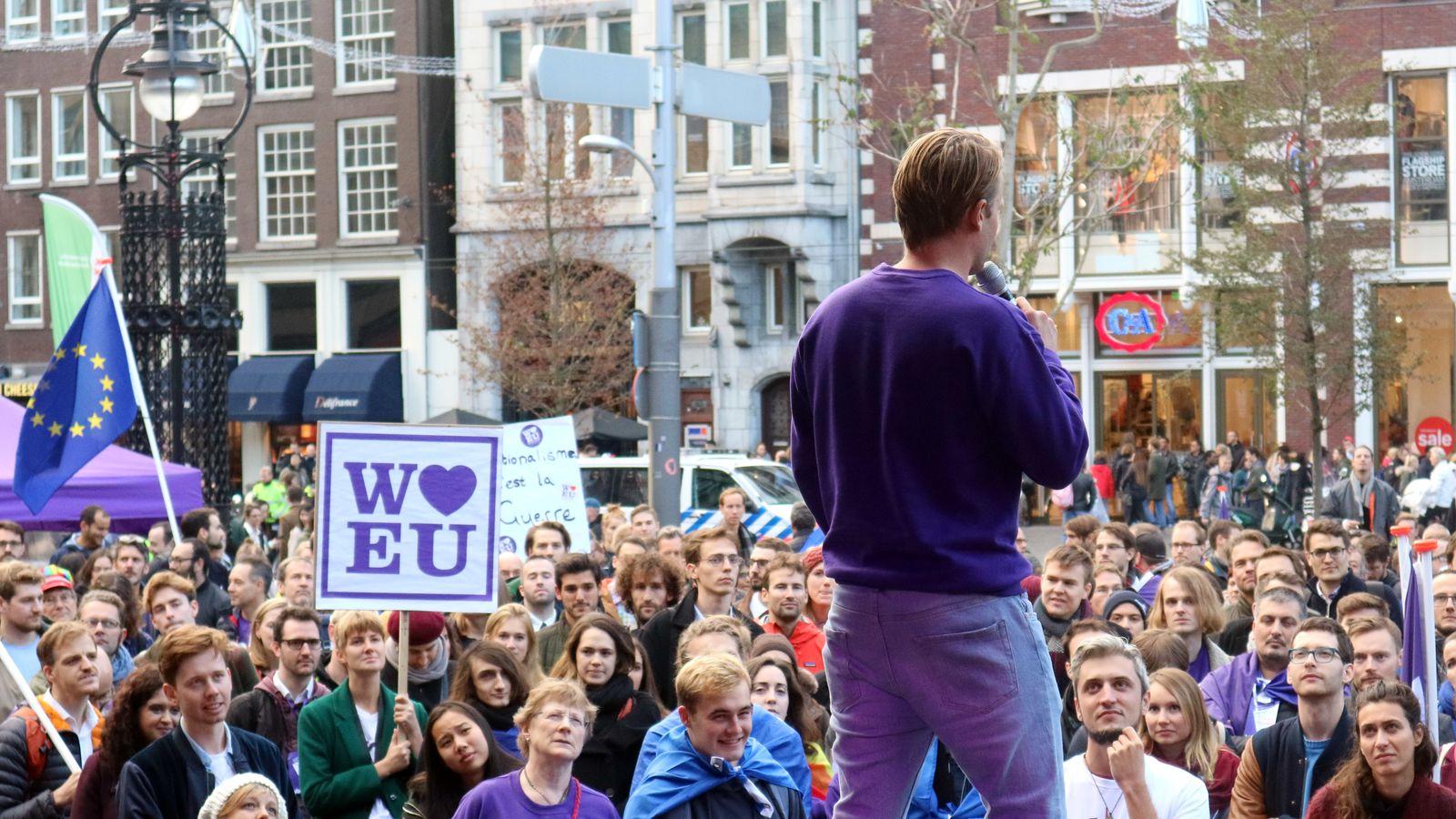 Kundgebung der proeuropäischen Partei «Volt»