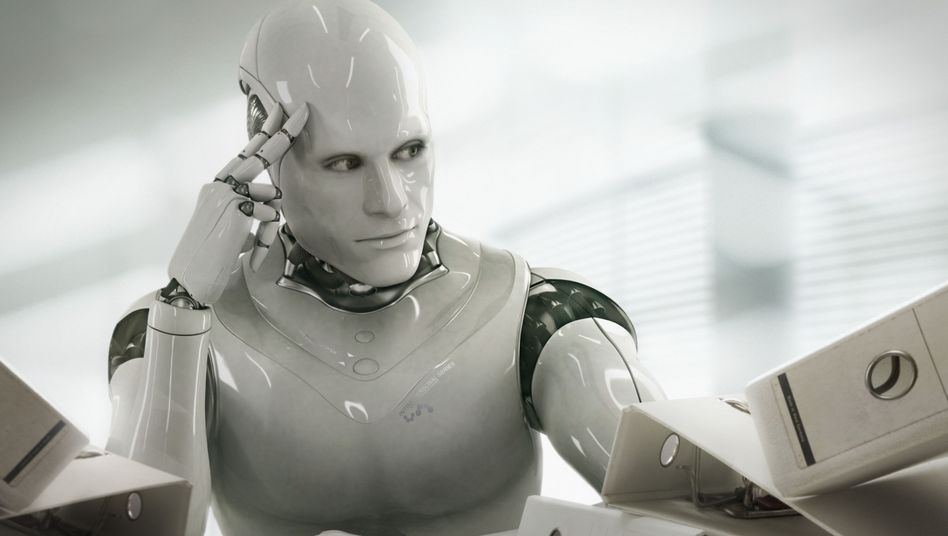 Denkender Roboter (Computeranimation)
