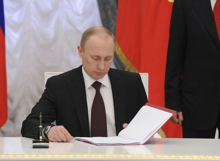 Präsident Wladimir Putin: Immer neue Gesetze, die die Freiheit des Internets beschränken