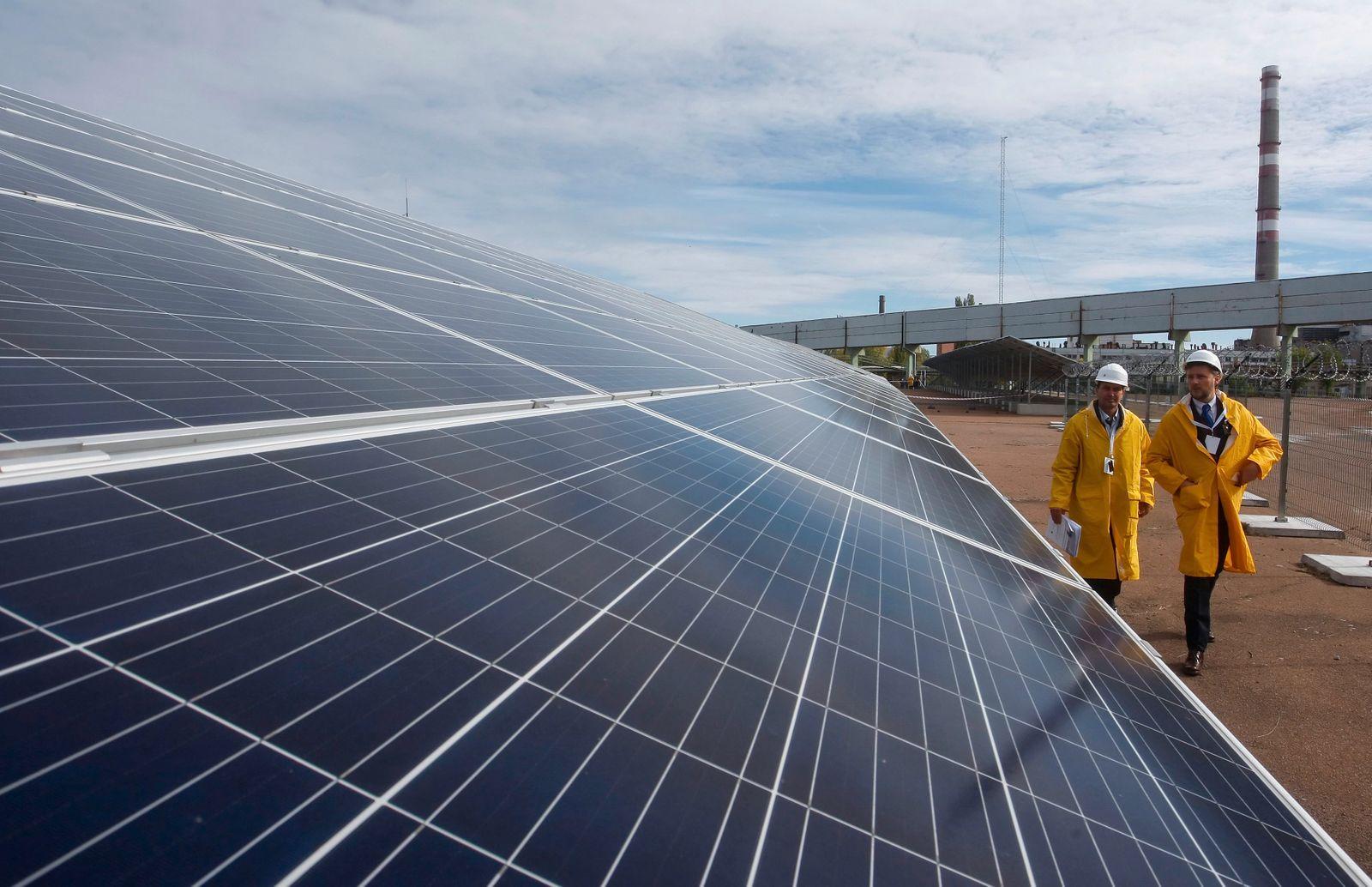 A solar power plant in the Chernobyl zone of Ukraine