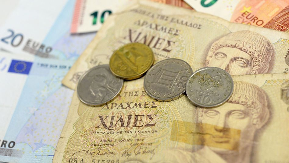 Drachmen und Euroscheine: Syrizas Pläne zum Grexit
