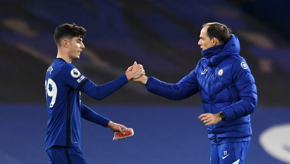 Sonderlob vom Trainer: Kai Havertz war an beiden Treffern gegen Everton beteiligt