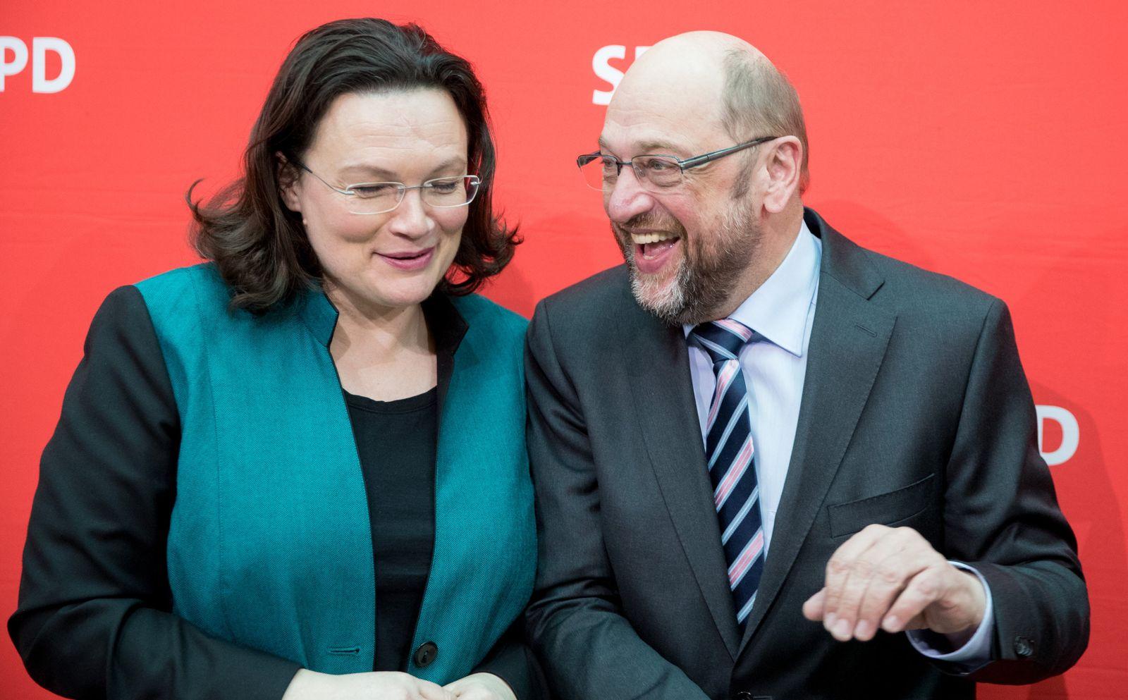 SPD / Parteivorstand / Andrea Nahles / Martin Schulz