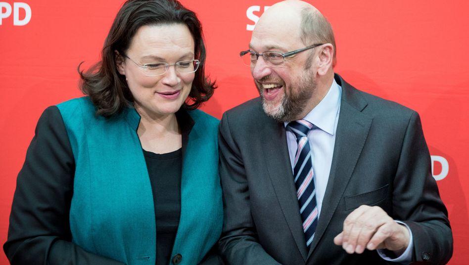 SPD-Politiker Nahles, Schulz