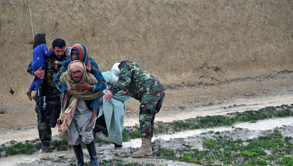 Menschen in der Provinz Kandahar