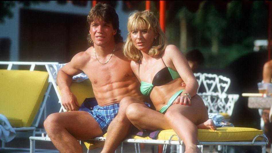 Lothar Matthäus mit Ehefrau Silvia während der Fussball-WM 1986 in Mexiko