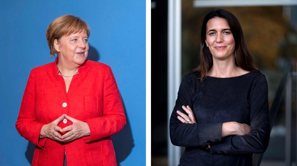 Kanzlerin Merkel und Virologin Brinkmann