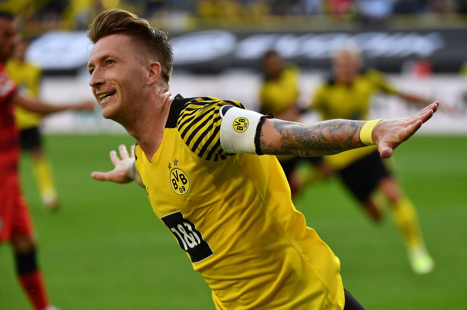 14.08.2021, xjhx, Fussball 1.Bundesliga, Borussia Dortmund - Eintracht Frankfurt emspor, v.l. Marco Reus (Borussia Dort
