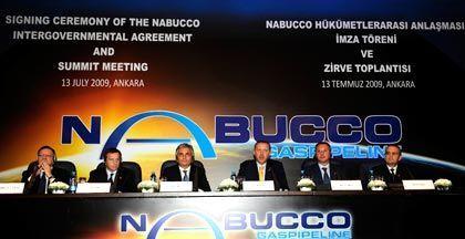 Nabucco signing ceremony in Ankara.