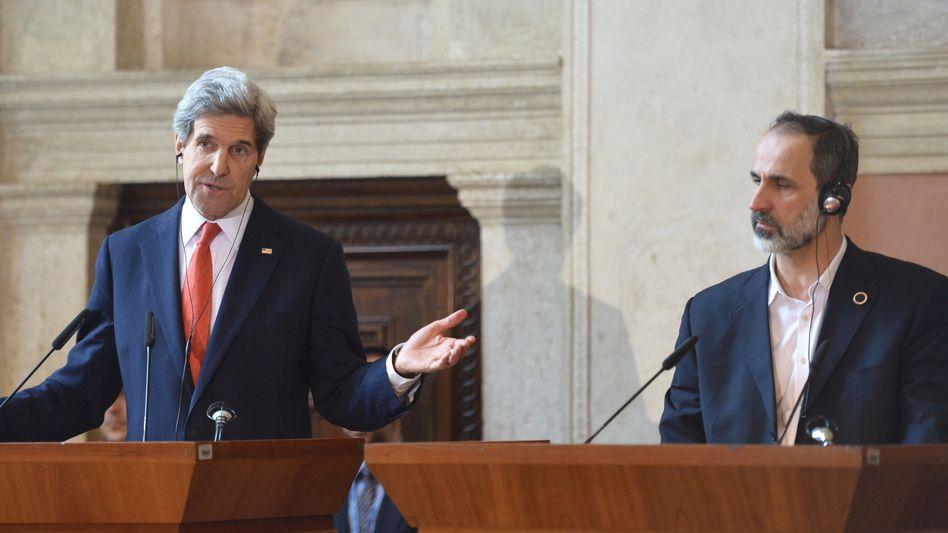 Kontaktgruppe: Kerry verspricht syrischer Opposition neue Millionenhilfe