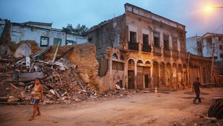 Stillgelegtes Bauprojekt in Rio de Janeiro