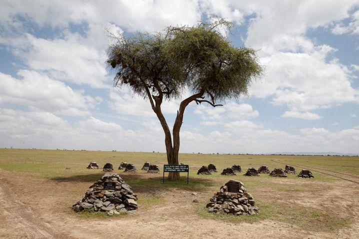 Nashorn-Friedhof im Wildtierreservat Ol Pejeta